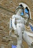 David statues in Piazza della Signoria in Florence, Italy Stock Photo