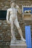 David staty av Michelangelo i Florence, ITALIEN Arkivbilder