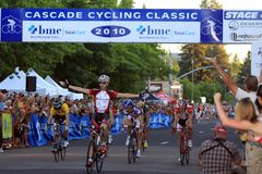 David Tanner taking the crit stage win Stock Photography