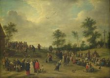 After David Teniers the Younger - A Country Festival near Antwerp royalty free stock photo