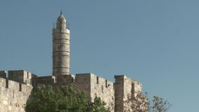 David tower in Jerusalem stock video footage