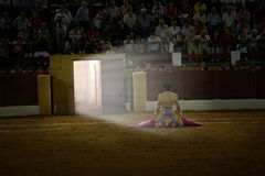 David Valiente waiting for you in portagayola the day of your alternative as a bullfighter, Andújar, royalty free stock photos