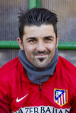 David Villa of Atletico de Madrid Royalty Free Stock Photos