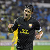 David Villa celebrates goal Stock Photo