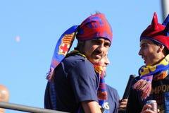 David Villa, (de la ville de Gijon) joueur asturien d'équipe de football de F.C Barcelona Photos stock
