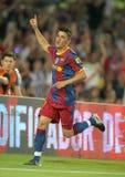David Villa van Barcelona Stock Foto