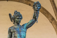 Perseo hanging the head of Medusa in Florence Royalty Free Stock Photos