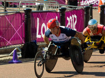 David Weir leading the Marathon Stock Photos