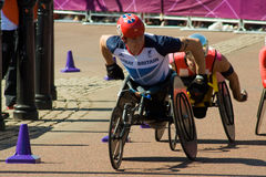 David Weir leading the Marathon Stock Image