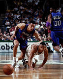 David Wesley and Doug Christie battle for the ball. Stock Photography