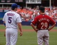 David Wright en Doug Mansolino Royalty-vrije Stock Foto's
