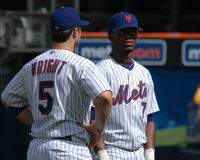 David Wright en Jose Reyes Royalty-vrije Stock Afbeeldingen