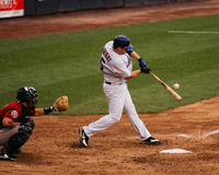David Wright goes to the opposite field. Royalty Free Stock Photos