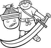David y Goliath ilustración del vector