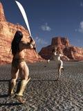 David y Goliath Fotos de archivo libres de regalías