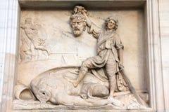 David y Goliath Imagen de archivo libre de regalías
