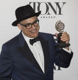 David Yazbek at the 2018 Tony Awards. David Yazbek arrives in the media room of the 72nd Annual Tony Awards at the 3 West Club in New York City on June 10, 2018 stock photography