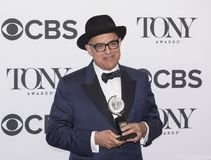 David Yazbek at the 2018 Tony Awards. David Yazbek arrives in the media room of the 72nd Annual Tony Awards at the 3 West Club in New York City on June 10, 2018 stock image