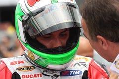 Davide吉乌利亚诺- Ducati 1098R -蜀癸属植物赛跑 库存图片