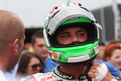 Davide吉乌利亚诺- Ducati 1098R -蜀癸属植物赛跑 免版税库存图片