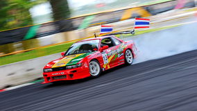 Davide Dorigo drifting at Formula Drift 2010 Stock Images