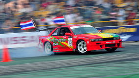 Davide Dorigo drifting at Formula Drift 2010 Stock Photography