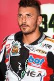 Davide Giugliano #34 στο εργοστάσιο Aprilia RSV4 1000 με τη Althea που συναγωνίζεται την ομάδα Superbike WSBK Στοκ Φωτογραφίες