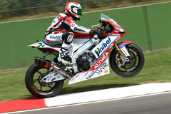 Davide Giugliano #34 on Aprilia RSV4 1000 Factory with Althea Racing Team Superbike WSBK stock images