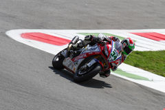 Davide Giugliano #34 on Aprilia RSV4 1000 Factory with Althea Racing Team Superbike WSBK royalty free stock photography