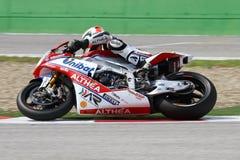 Davide Giugliano #34 auf Fabrik 1000 Aprilia RSV4 mit Althea Racing Team Superbike WSBK Stockfotografie