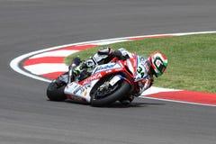 Davide Giugliano #34 auf Fabrik 1000 Aprilia RSV4 mit Althea Racing Team Superbike WSBK Stockbilder