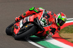 Davide Giugliano - ITA Ducati Panigale 1199 r Аруба оно гонки - Ducati Стоковое Фото