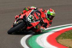 Davide Giugliano - ITA Ducati Panigale 1199 R Aruba det som springer - Ducati Arkivbild