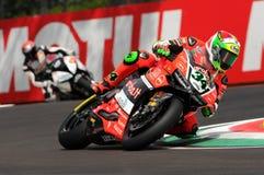 Davide Giugliano - ITA Ducati Panigale 1199 R Aruba det som springer - Ducati Fotografering för Bildbyråer