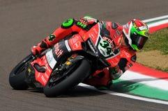 Davide Giugliano - ITA Ducati Panigale 1199 R Aruba det som springer - Ducati Arkivfoton