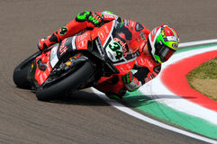 Davide Giugliano - ITA Ducati 1199 Panigale R Aruba.it Racing - Ducati royalty free stock image