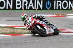 Davide Giugliano #34 sulla fabbrica 1000 di Aprilia RSV4 con Althea Racing Team Superbike WSBK Immagini Stock