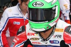 Davide Giuliano - Ducati 1098R - Althea Racing. Davide Giuliano rider Ducati 1098R Althea Racing team in the world Superbike Championship SBK Stock Photography