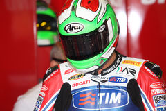 Davide Giuliano - Ducati 1098R - Althea Racing royalty free stock photography