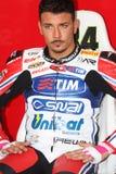 Davide Giuliano - Ducati 1098R - het Rennen Althea Stock Afbeelding