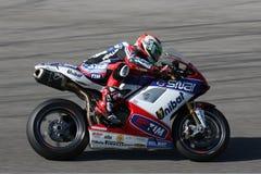 Davide Giuliano - Ducati 1098R - het Rennen Althea Royalty-vrije Stock Afbeelding