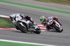 Davide Giuliano - Ducati 1098R - het Rennen Althea Stock Afbeeldingen