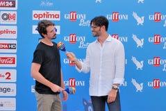 Davide Iacopini  e Giulio Berruti al Giffoni Film Festival 2016 Stock Photography