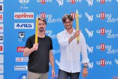 Davide Iacopini  e Giulio Berruti al Giffoni Film Festival 2016 Stock Image