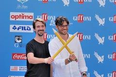 Davide Iacopini  e Giulio Berruti al Giffoni Film Festival 2016 Stock Photos