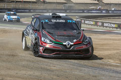 Davide MEDICI clio renault Barcelona FIA World Rallycross royaltyfri fotografi