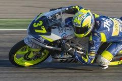 Davide Pizzoli Moto3 Grand Prix Movistar Aragà ³ ν Στοκ φωτογραφίες με δικαίωμα ελεύθερης χρήσης