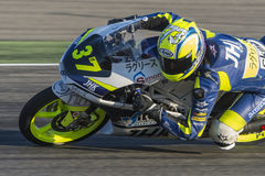 Davide PIZZOLI. Moto3. Grand Prix Movistar of Aragón Royalty Free Stock Photos