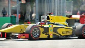 Davide Valsecchi участвуя в гонке в Сингапур GP2 2012 Стоковые Изображения