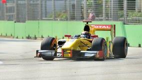 Davide Valsecchi racing in Singapore GP2 2012 Royalty Free Stock Image